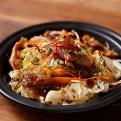 新鮮野菜と豚バラの味噌炒め