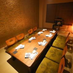 落ち着いた雰囲気のお座敷個室は大切なお食事会にもおすすめのお部屋です。
