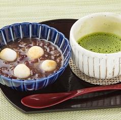 料理メニュー写真冷やし小豆ぜんざい