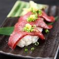 料理メニュー写真肉寿司6種盛り