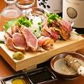 料理メニュー写真薩摩のブランド鶏、知覧鶏のたたき