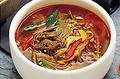 料理メニュー写真ユッケヂャンスープ