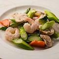 料理メニュー写真季節野菜と海鮮三種の炒め