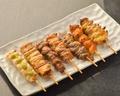 料理メニュー写真【盛り合わせ】鶏串盛り合わせ (7本)
