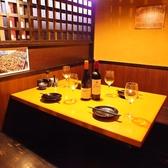 【掘りごたつ個室】足を伸ばして寛げる半個室は、デートや女子会に最適!