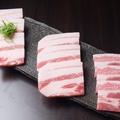 料理メニュー写真三種の豚盛り(白金豚・能登豚・薩摩黒豚)
