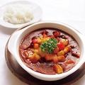 料理メニュー写真牛肉のボルシチ野菜は東北牧場から【ウクライナ】