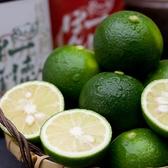 徳島産すだち。ポン酢の約40%はすだちです