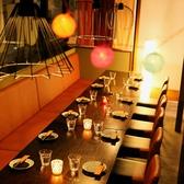 フロアテーブル席は暖簾で仕切らせて頂きます。宴会・歓送迎会・女子会・誕生日会・記念日・宴会・飲み放題も♪ママ会にも注目です♪仙台駅 居酒屋 個室 単品飲み放題 焼き鳥 海鮮 牡蠣 牛タン 肉 誕生日 女子会★チーズタッカルビ人気店 チーズダッカルビ