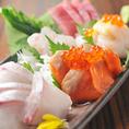 毎日入荷する新鮮旬魚は華やかなお造り盛り合わせがお勧めです。職人が丁寧に仕上げます。