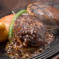 料理メニュー写真イベリコ豚&上州牛のダブルハンバーグ/食べ放題ビュッフェ付!
