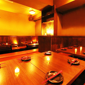 様々なシチュエーションにお使い頂ける隠れ家のような個室席です。池袋で接待、女子会、合コン、誕生日、記念日、歓送迎会など各種飲み会やご宴会は当店で決まり!
