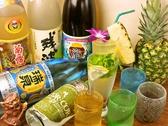 素敵な琉球グラスでお酒をお愉しみ頂けます。