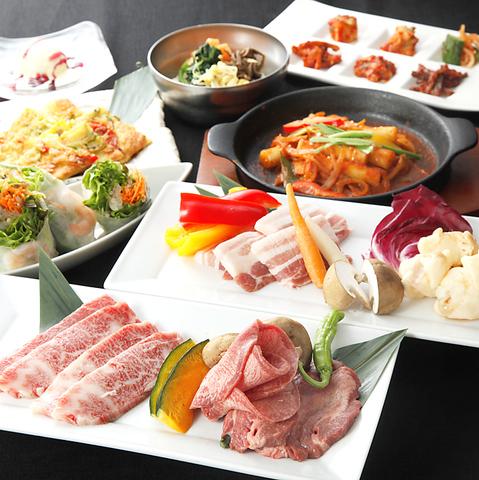 コース料理、アラカルト、共に豊富な韓国料理をそろえております!