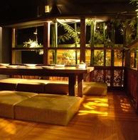 竹林に囲まれた寛げる個室