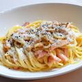 料理メニュー写真スパゲッティ カルボナーラ