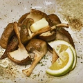 料理メニュー写真島原産肉厚椎茸塩焼き