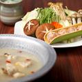 料理メニュー写真特別飼育 伊達鶏使用 鳥元の水炊き鍋