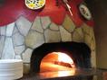 【~自慢の石窯~】イタリアの窯職人が手掛けたピザ窯♪