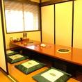大人気の個室部屋♪大切なご宴会に♪10人席が4部屋、6人席が 6部屋ご用意しております。