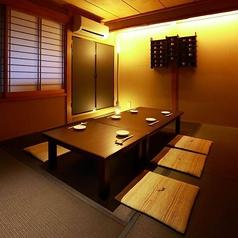上品な和空間のお座敷個室。2~12名様でご利用頂けます。