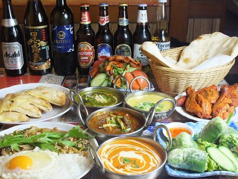 本格的なインド・ネパール料理が楽しめるお店☆宴会コースもあります!