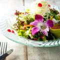 料理メニュー写真彩りエディフルサラダ