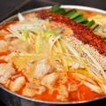 料理メニュー写真新定番!赤いもつ鍋 『うま辛唐辛子』
