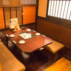 個室や半個室などのプライベート空間を保てるお席をご用意!