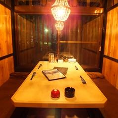 助五郎は個室充実ですので、周りを気にせずゆったりおくつろぎいただけます。靴を脱がなくてもいいテーブル個室も充実!