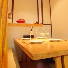 半個室のボックステーブル席は、プライベート感抜群♪