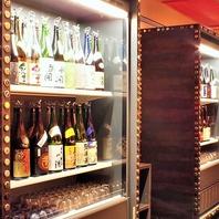 【厳選銘柄の日本酒を種類豊富にご用意】
