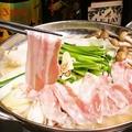 料理メニュー写真満腹!!豚バラをつかった旨み寄せ鍋 ※塩・味噌・醤油よりお選びください。