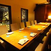 14名様までご利用可能な個室です。テーブル&椅子の対面型完全個室。宴会にどうぞ♪【梅田 茶屋町 個室 ソファー 宴会 合コン コンパ 女子会 誕生日 記念日 パーティー 梅酒】