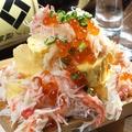 料理メニュー写真【二丁目酒場名物】蟹ぶっかけ出汁巻き玉子いくらがけ