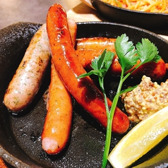料理メニュー写真5種ソーセージ