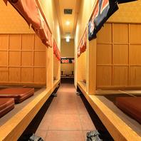 個室は2名~最大12名様まで完備!