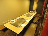 15~17名様用の鉄板付テーブル席