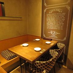 レイアウト変更可能なテーブル席を各種ご用意しております♪