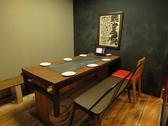 鉄板付のテーブル