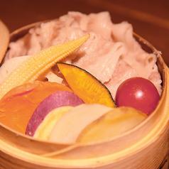 【名物】地野菜と神戸スイーツポークのせいろ蒸し