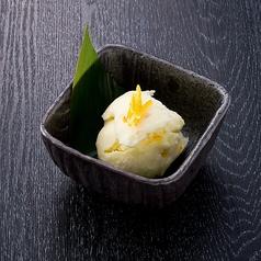 料理メニュー写真シャーベット 柚子