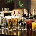 お酒の種類も豊富にご用意!ドリンクは80種類以上!生ビールやハイボールはサーバーからセルフで入れ放題♪焼酎・ワイン・カクテル・テキーラなど