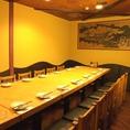【15名様用 テーブル個室】20名様など中規模宴会向けテーブル席個室です。3H飲み放題付コースは3,500円~ご用意しておりますので、お気軽にご利用ください。