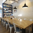 """【テーブル席】10席×1つご用意しています。充実のランチメニュー!ランチセット,プレートメニュー,ランチパスタ,ランチサラダ,当店自慢の逸品をリーズナブルにお楽しみいただけます。南房総やいすみ市にお越しの際は是非""""Fukumi Cafe パルミエ""""もご利用ください!"""