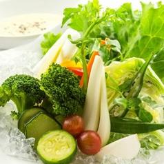 料理メニュー写真契約農家さん直送色々野菜のバーニャカウダー~アンチョビクリームソース
