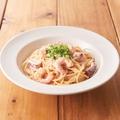 料理メニュー写真■海老とヤリイカの明太クリームソース
