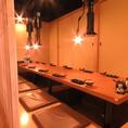 個室は2名様用~20名様用まで柔軟に対応できます。