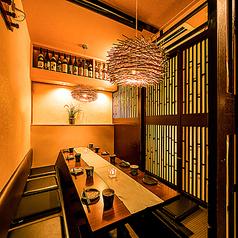 【2~6名様個室】完全個室をご用意しております。ご友人とのプライベート飲み会におすすめです。