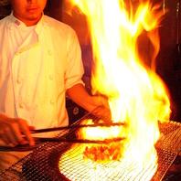 食材&自家製へのこだわり。厳選素材を炭火焼ビストロで